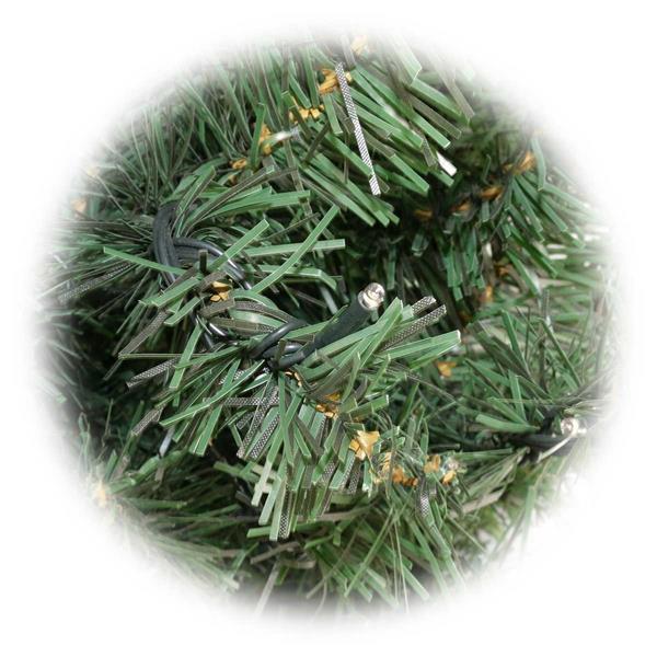 1,8m Weihnachtsbaum mit integrieter LED-Lichterkette