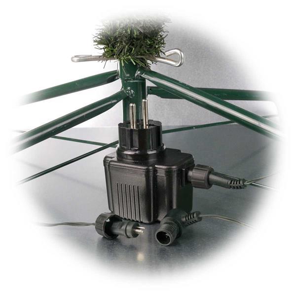Weihnachtsbaum mit 180 warmweißen LEDs und 230V-Netzteil