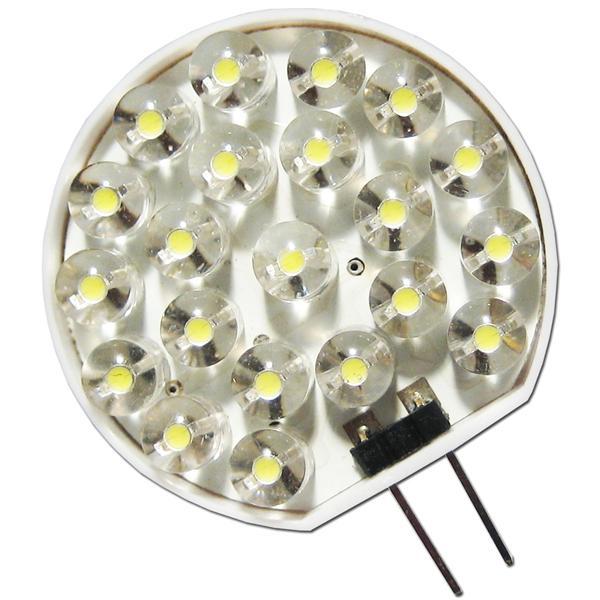 LED G4 12V rund mit 21 Flachkopf LEDs der stromsparende Ersatz für Halogenlampen