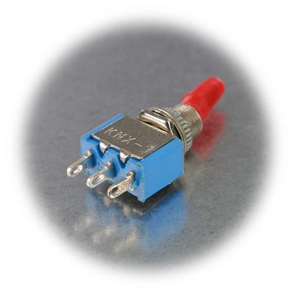 1-poliger Miniaturschalter für 125 VAC/3 A oder 250 VAC/1 A