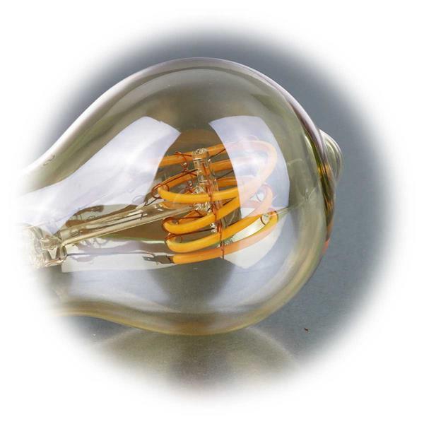 Dimmbare Retro-Glühbirne mit Spiral-Leuchtfaden