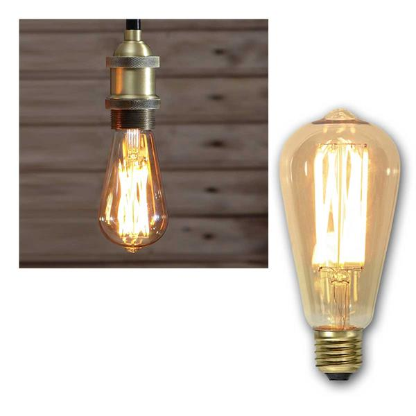 E27 LED Birne VINTAGE Filament Edison-Optik 240lm