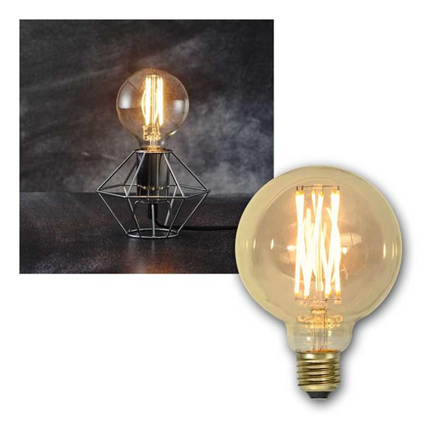 E27 LED Birne VINTAGE Filament Kugel Ø95mm 240lm