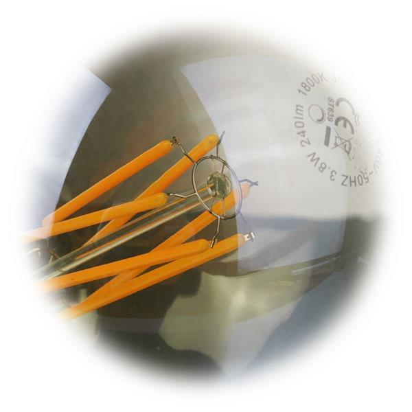 LED Strahler in Glühbirnenform mit klarer Glasabdeckung