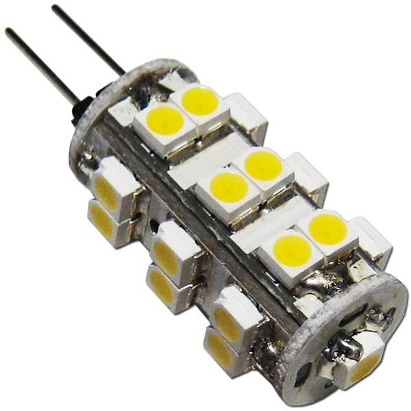 LED Birne G4 12V mit 25 lichtstarken SMD LEDs als energiesparender Ersatz für Halogenlampen