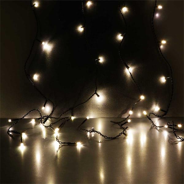 DURA Lichtvorhang mit 120 warmweißen LEDs