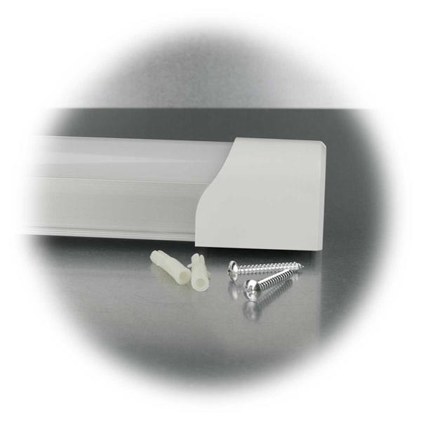 LED Leiste für Unterschränke mit milchiger Kunststoff Abdeckung