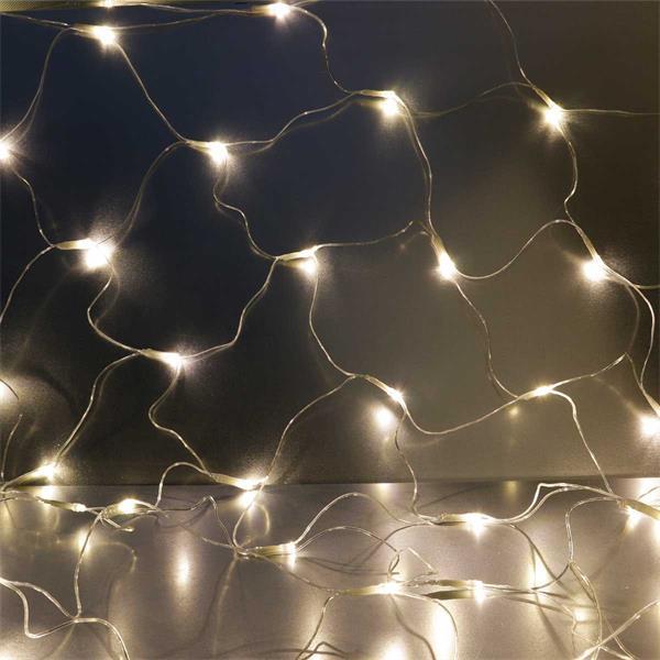 Warmweißes Lichternetz mit 80 LEDs