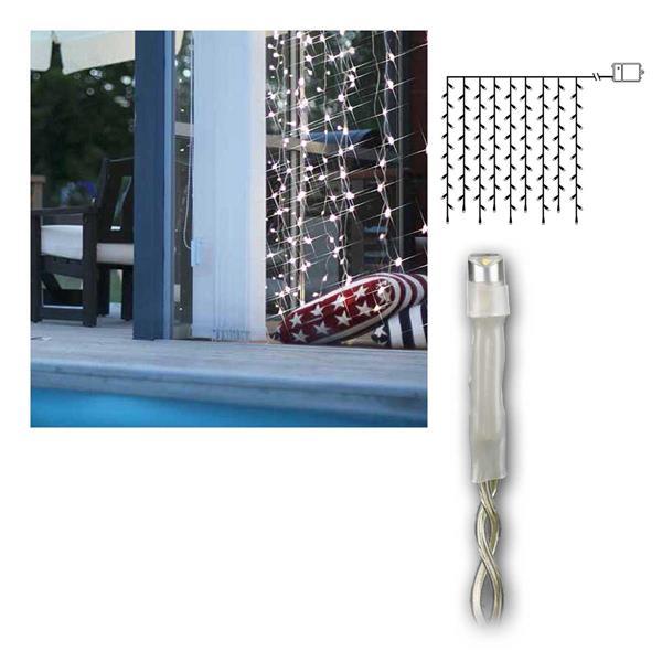 Batterie-Lichtvorhang 1,1x1m DURA 120 LEDs, transparent
