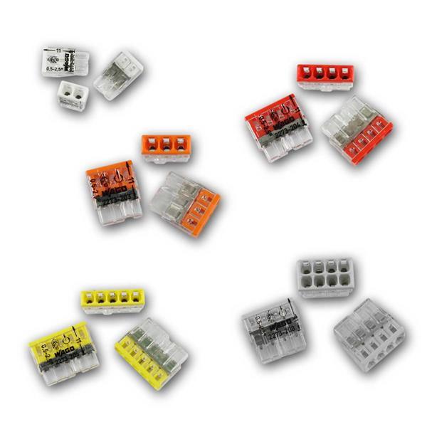 WAGO Compact Steckklemmen 2/3/4/5/8x 0,5-2,5 mm²