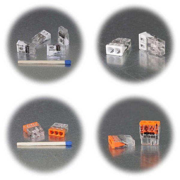 Steckklemmen von WAGO mit 2,3,4,5 oder 8 Klemmstellen