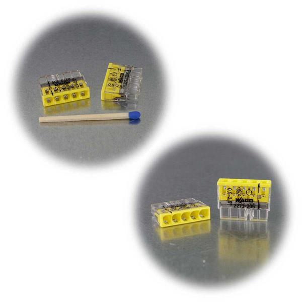 Compact Steckklemmen von Wago für 0,5-2,5 mm² Leitungen