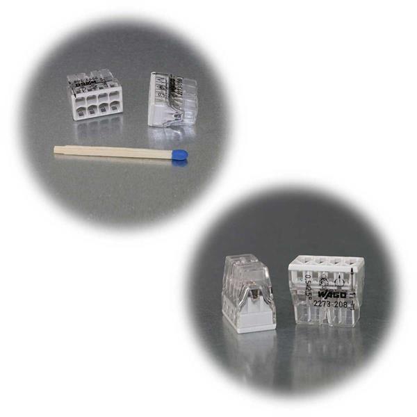 Kompaktklemmen von WAGO mit 2-8 Klemmstellen