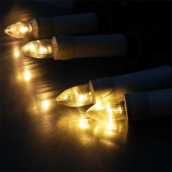 Warmweiße LED Lichterkette für innen und außen