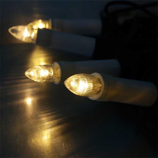 Warmweiße Lichterkette mit 25 LED Kerzen