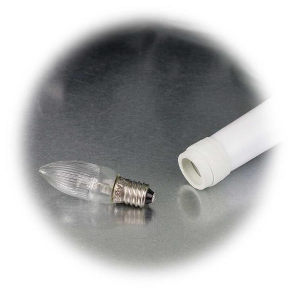 LED Lichterkette mit austauschbarem E10 Leuchtmittel