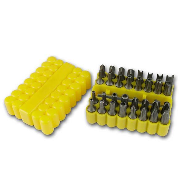 Bitsatz 33-teilig in Weichgummi-Box, mit Bithalter