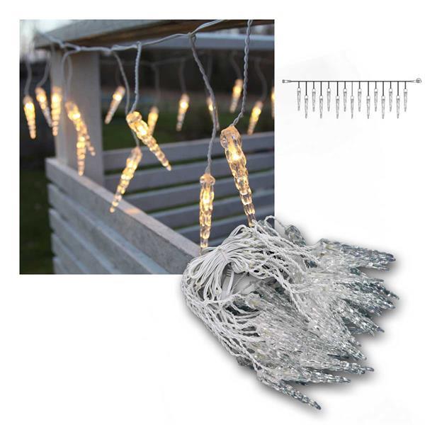 System Decor Eiszapfen 50 LED warmweiß 5m weiß