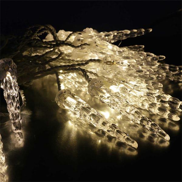 System Decor Eiszapfen verzaubert mit warmweißem Licht