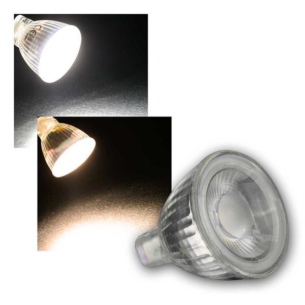 MR11 COB LED Leuchtmittel daylight/warmweiß 3W/12V