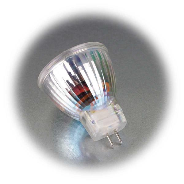 COB-LED Leuchtmittel in 2 Leuchtfarben mit MR11-Sockel