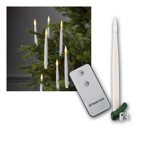 Christbaumkerzen 10er Set LED Fernbedienung &Clips