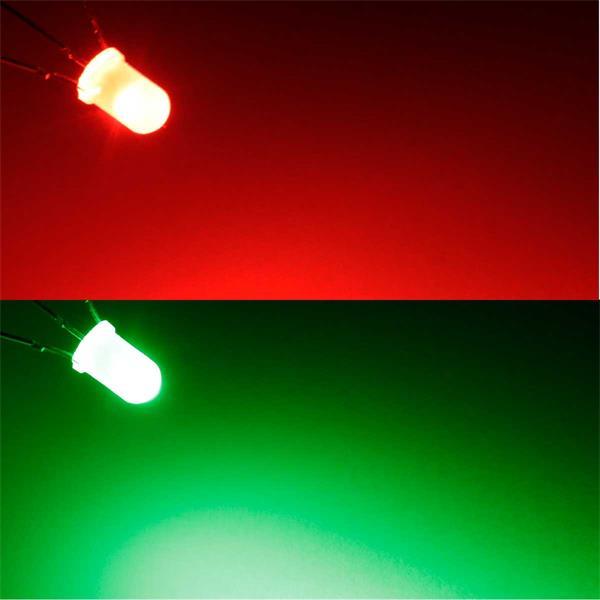 Rot/grün leuchtende 5mm LEDs
