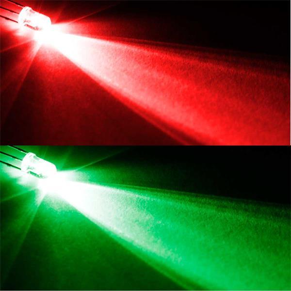 Zweifarbige LEDs, rot/pur-grün