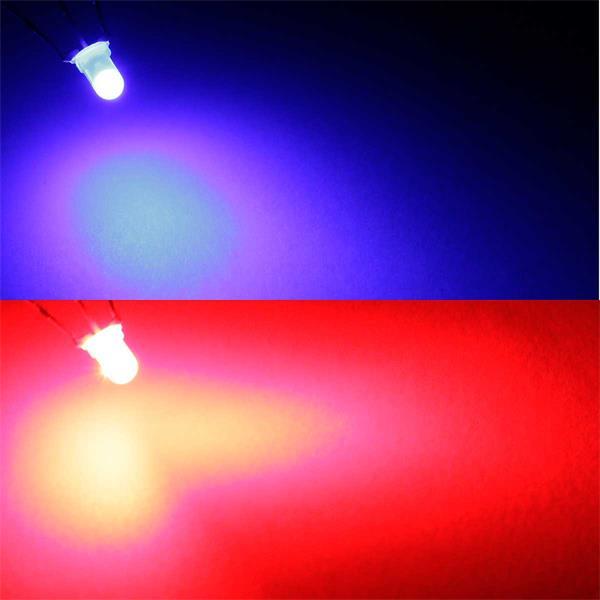 Zweifarbige LEDs in Rot/Blau