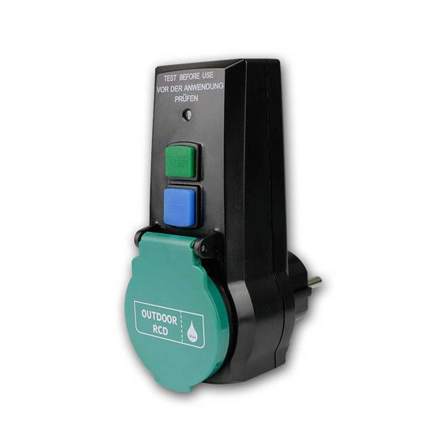 Personenschutz-Adapter Zwischenstecker IP44 230V