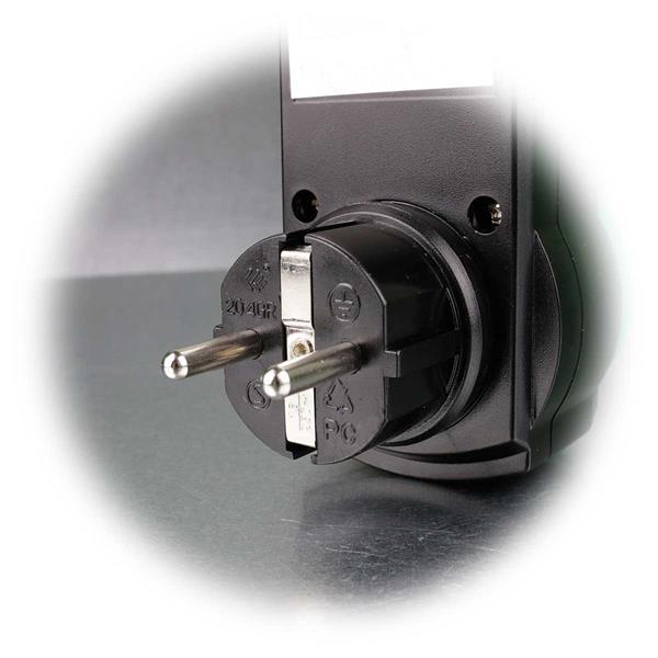 Sicherheitsadapter für Schutzkontaktsteckdose mit FI Schutz