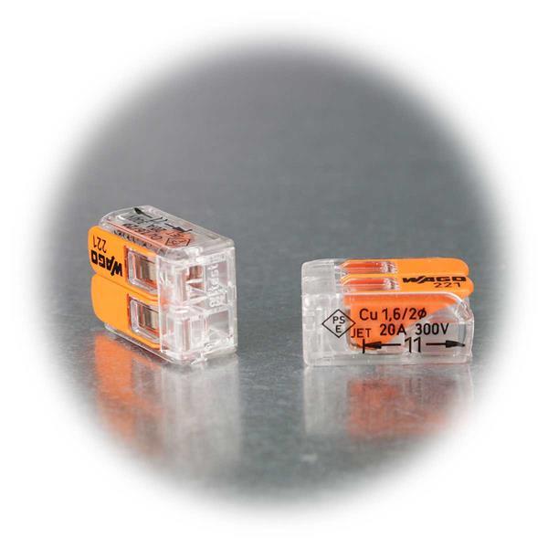 Dosenklemme für 2 Litzen und Drähte von 0,14 bis 4mm²