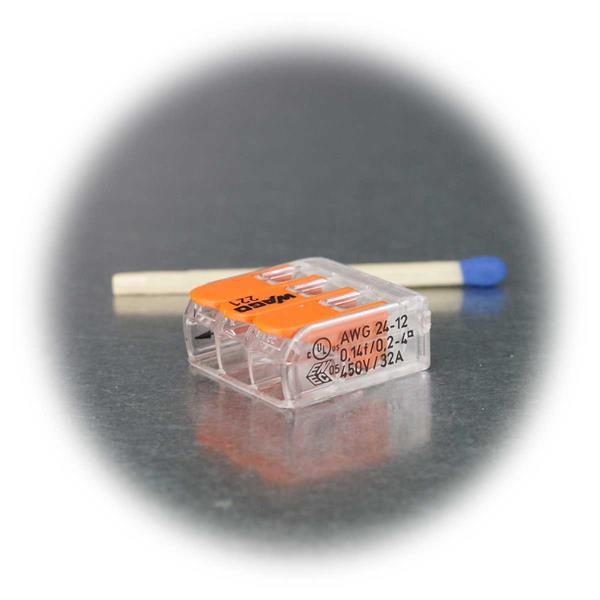 Verbindungsklemme mit geringen Abmessungen und Clipfunktion