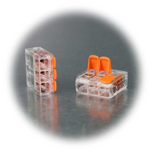 Dosenklemme für 3 Litzen und Drähte von 0,14 bis 4mm²