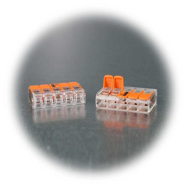 Wago Steckklemme mit transparenter Gehäusefarbe