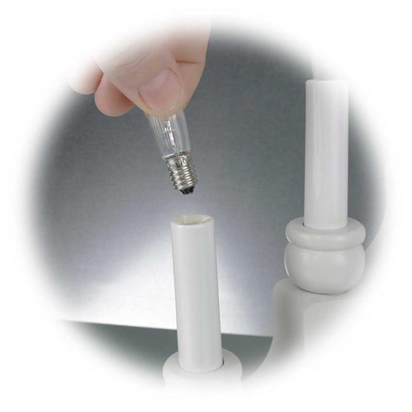 LED Weihnachtsdekoration mit austauschbaren LED E10 Leuchtmittel