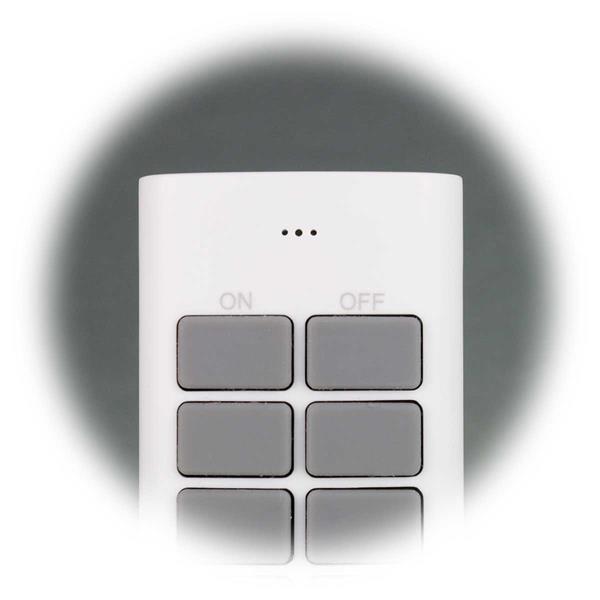 Funkfernbedienung mit 4 Kanälen mit je 3 Empfängern