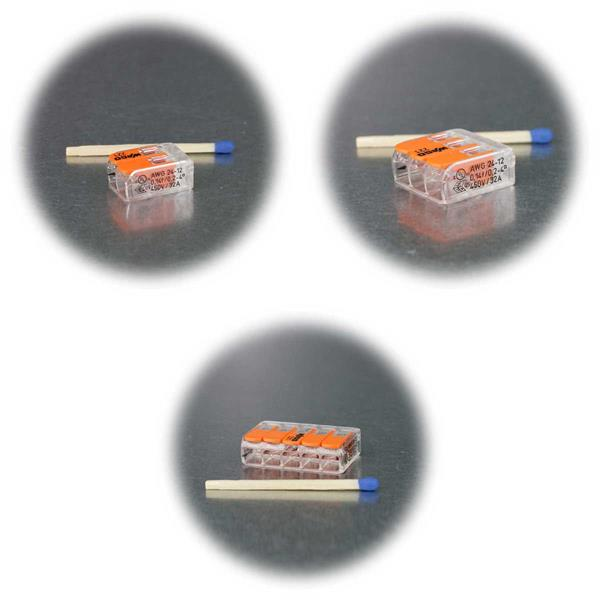 WAGO Kompaktklemmen mit Hebel für 4mm²-Kabel
