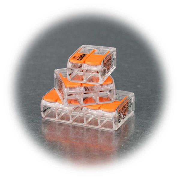 WAGO Steckklemmen mit 2,3 oder 5 Klemmstellen