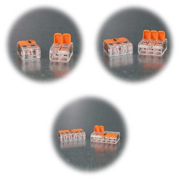 WAGO-Klemmen mit Hebel für 4mm²-Kabel