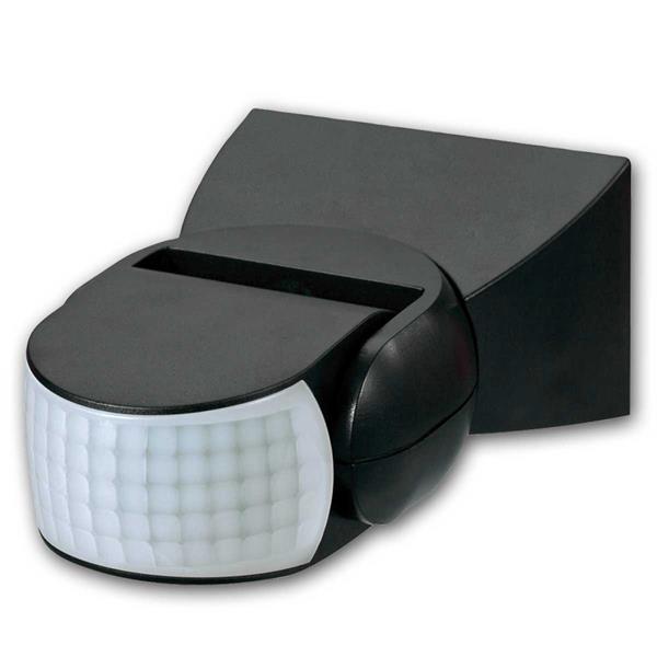Bewegungsmelder CBM Pro PIR LED-geeig 180° IP65, schwarz