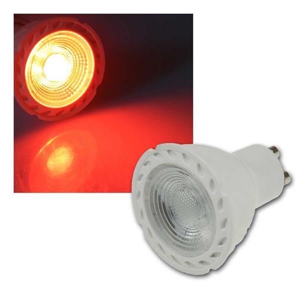 """LED Strahler GU10 """"LDS-50"""" rot 38°, 230V/5W"""