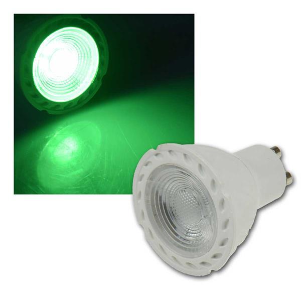 """LED Strahler GU10 """"LDS-50"""" grün 38°, 230V/5W"""