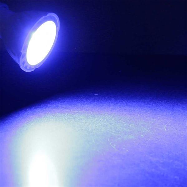 Angenehm blau strahlend: GU 10 LED Strahler