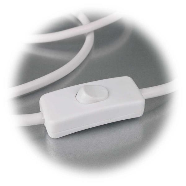 abisoliertes Kabel mit Zwischenschalter zum Ein- und Ausschalten