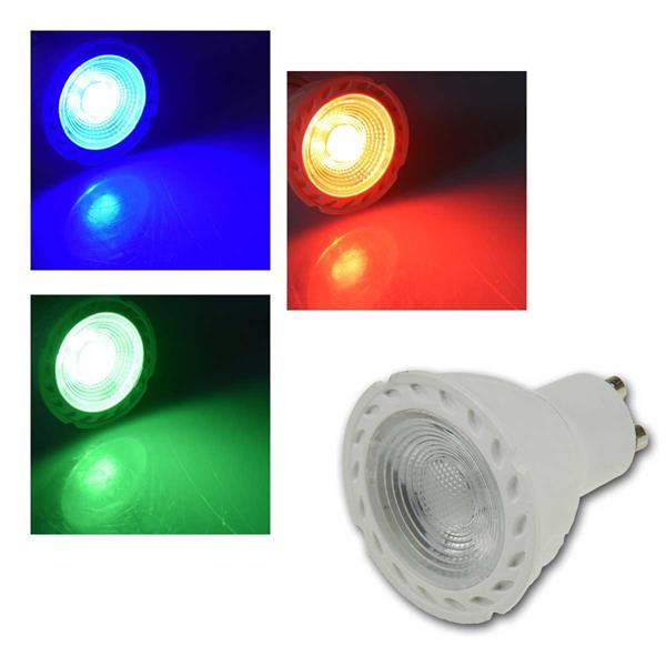LED Strahler GU10 LDS-50 rot/grün/blau, 230V/5W