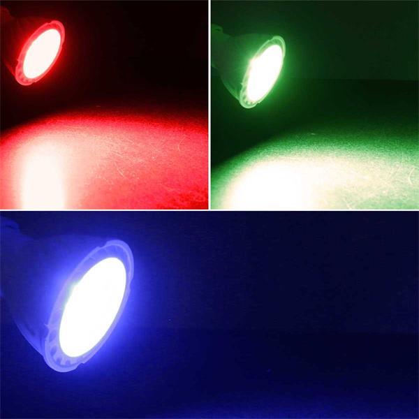GU10 Strahler in 3 Leuchtfarben