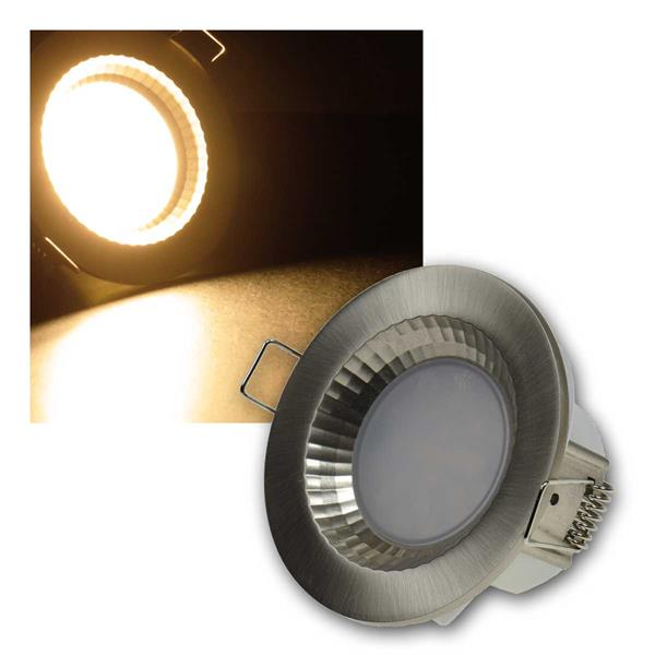 Einbauleuchte Flat-40FR LED warm 430lm Edelstahl