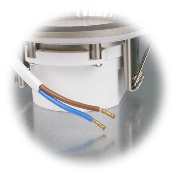 LED Spot flach mit nur 5W Verbrauch für direkten Anschluss an 230V