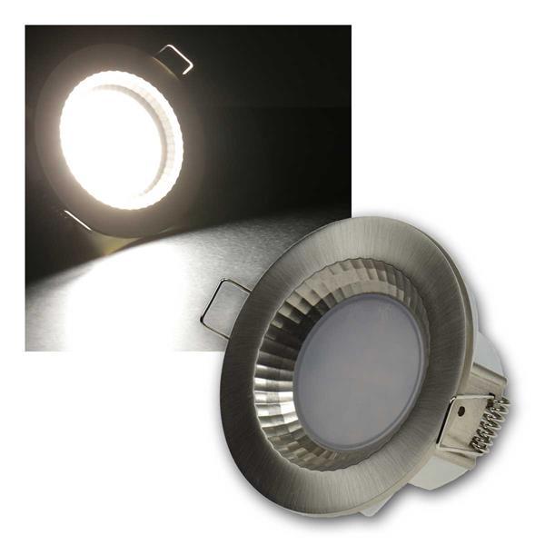 Einbauleuchte Flat-40FR LED neutra 460lm Edelstahl